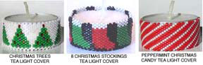 CHRISTMAS TEA LIGHT CANDLE COVERS - GROUP 3