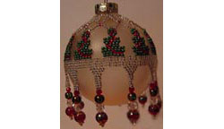 Garland Bedecked Holiday Trees Ornament