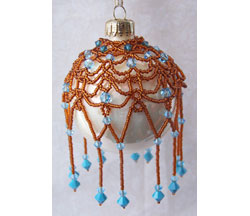 Crystal Drop Lace Ornament Cover