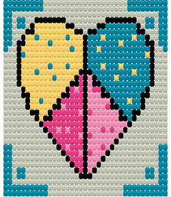 Patchwork Heart - Loom