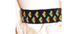 flying fins flat peyote bracelet