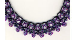 Blue Jean Lace Necklace