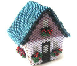 SWISS CHALET MINIATURE TRINKET BOX / FAN PULL
