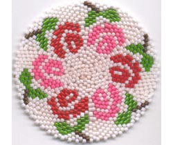 6 ROSES MANDALA FOR REALLY, REALLY ROUND PEYOTE