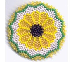 SUNFLOWER MANDALA FOR REALLY, REALLY ROUND PEYOTE