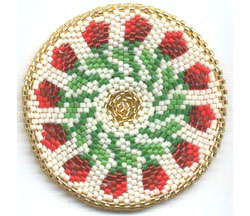 ROSEBUDS MANDALA FOR REALLY, REALLY ROUND PEYOTE