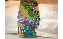 easy freeform peyote bracelet