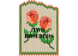TWO ROSEBUDS Amulet Purse or Necklace
