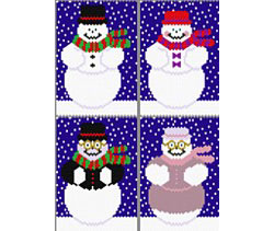 Jolly Snowpeople Set of 4