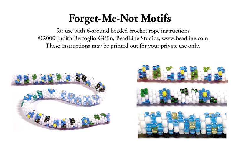 Bead Crochet Forget-Me-Not Motifs