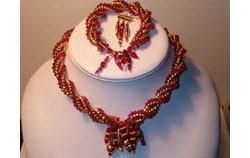Crystal Dreams twisted herringbone necklace, bracelet and matchi