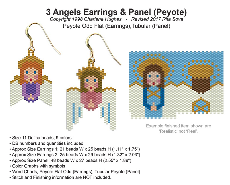 3 Angels Earrings and Panel (Peyote)
