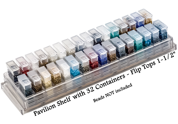 Pavilion Shelf with 32 Containers - Flip Tops 1-1/2""