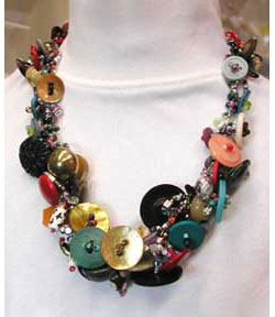 Bountiful Buttons Necklace