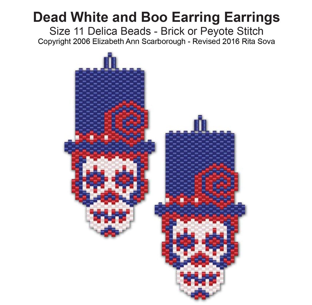 Dead White and Boo Earrings