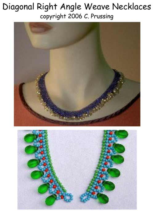 Diagonal Right Angle Weave Necklaces