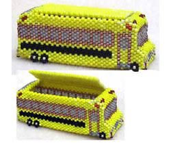 YELLOW SCHOOL BUS MINIATURE TRINKET BOX