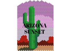 ARIZONA SUNSET NECKLACE OR AMULET PURSE