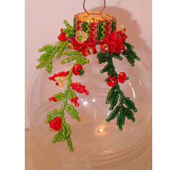 Poinsettia Xmas Ornament