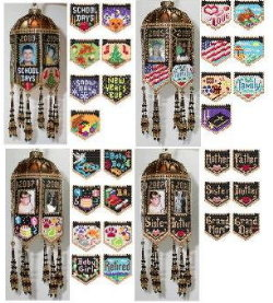All of the Scrapbook Memories Beaded Photo Frame Ornaments