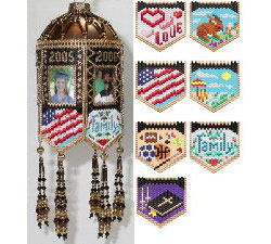 Scrapbook Memories Beaded Photo Frame Ornaments Spring & Sum