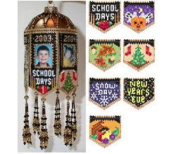 Scrapbook Memories Beaded Photo Frame Ornaments Fall & Winte